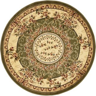 Lyndhurst Collection Aubussons Sage/ Ivory Rug (8 Round)