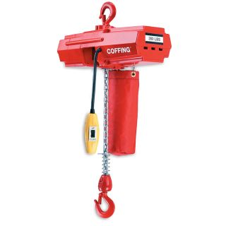Coffing Light Duty Electric Hoists   Chain Hoist   500 Lb. Capacity