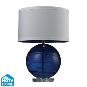 Dimond Lighting DMD HGTV242 Universal Mouth Blown Glass Table Lamp with Hand App