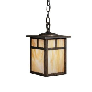 Kichler 9849CV Outdoor Light, Arts and Crafts/Mission Pendant 1 Light Fixture Canyon View