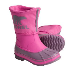 Sorel Rainbou Winter Pac Rain Boots   Waterproof  Insulated (For Kids and Youth)   VERY PINK CRUSHED BERRY (5 )