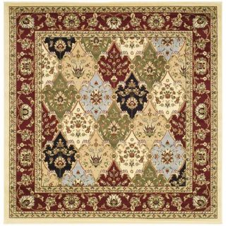 Lyndhurst Collection Multicolor/ Red Rug (6 Square)