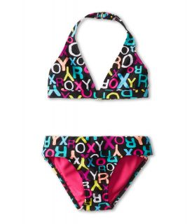 Roxy Kids Roxy Logo 70s Halter Set with Cups Girls Swimwear Sets (Multi)