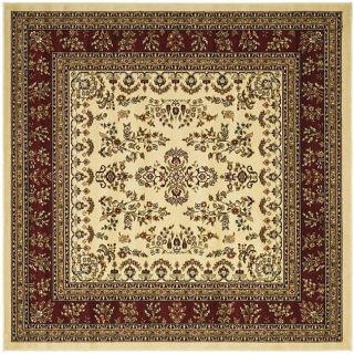 Lyndhurst Collection Ivory/ Red Rug (8 Square)