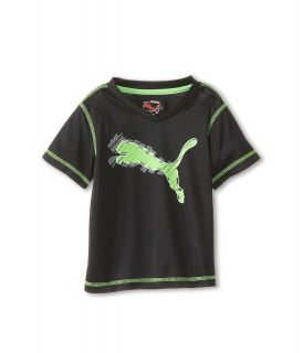 Puma Kids Cat Tee Girls Short Sleeve Pullover (Black)