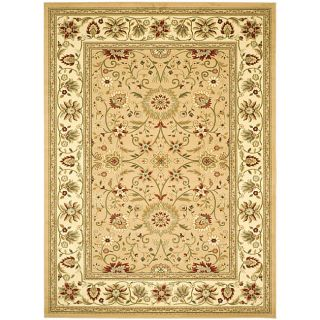 Lyndhurst Collection Majestic Beige/ Ivory Rug (6 X 9)