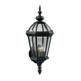 Kichler 9251BK Outdoor Light, Classic (Formal Traditional) Wall 3 Light Fixture Black (Painted)