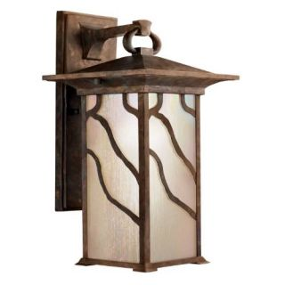 Kichler 9031DCO Outdoor Light, Arts and Crafts/Mission Wall Mount 1 Light Fixture Distressed Copper