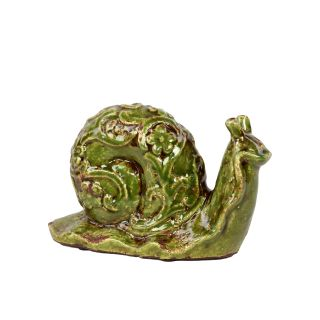 Urban Trends Collection Small Green Ceramic Snail (GreenSizes 6.25 inches high x 10 inches wide x 4 inches deepUPC 877101507505For decorative purposes onlyDoes not hold water CeramicColor GreenSizes 6.25 inches high x 10 inches wide x 4 inches deepUPC