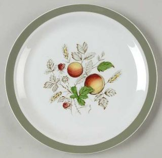 Alfred Meakin Hereford Salad Plate, Fine China Dinnerware   Green Band, Fruit &