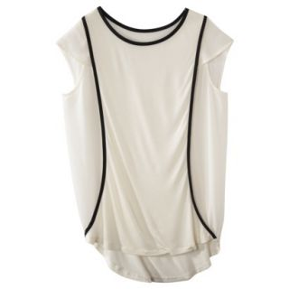 labworks Womens Chiffon/Knit Tee   Off White XL