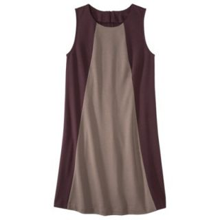 Mossimo Womens Colorblock Shift Dress   Berry/Timber XXL