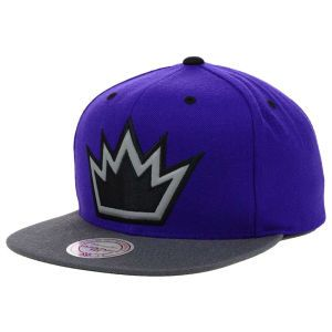 Sacramento Kings Mitchell and Ness NBA XL Reflective 2 Tone Snapback Hat