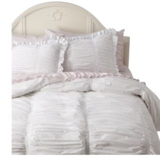 Simply Shabby Chic Smocked Duvet Cover Cover Set   King