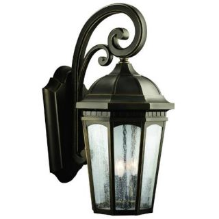Kichler 9035RZ Outdoor Light, Classic (Formal Traditional) Wall 3 Light Fixture Rubbed Bronze