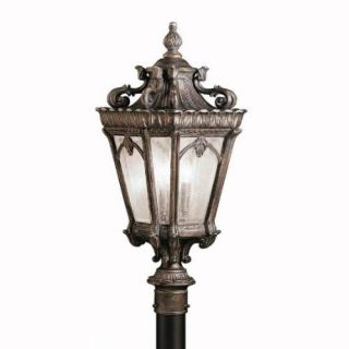 Kichler 9558LD Outdoor Light, European Post Mount 3 Light Fixture Londonderry
