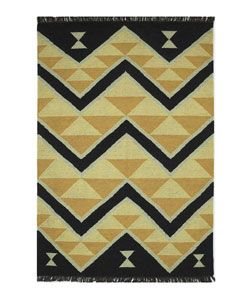 Hand woven Chilto Flat Weave Wool Rug (8 X 10 6)