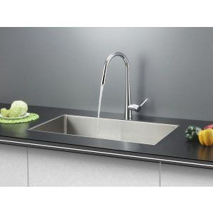Ruvati RVC2302 Combo Stainless Steel Kitchen Sink and Chrome Faucet Set