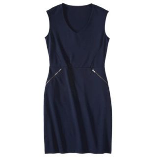 Mossimo Womens Ponte Sleeveless Dress w/ Zippered Pockets   Xavier Navy XL