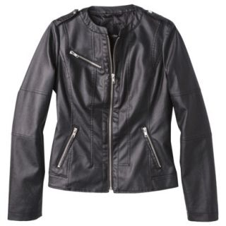 Mossimo Womens Faux Leather Jacket  Black M