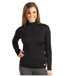 Hot Chillys Micro Elite Chamois 8K Solid Zip T Womens Long Sleeve Pullover (Black)
