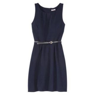 Merona Womens Textured Sleeveless Belted Dress   Xavier Navy   XL