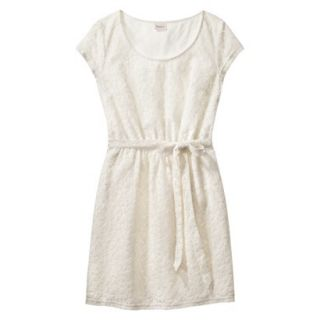 Merona Womens Lace Sheath Dress   Sour Cream   S