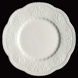 Royal Cauldon Aviary Bread & Butter Plate, Fine China Dinnerware   White Embosse