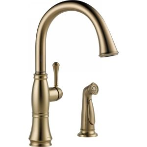Delta Faucet 4297 CZ DST Cassidy Single Handle Kitchen Faucet With Spray
