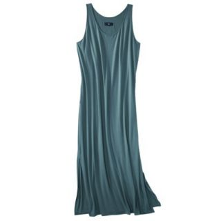 Mossimo Womens Plus Size Sleeveless V Neck Maxi Dress   Teal 2