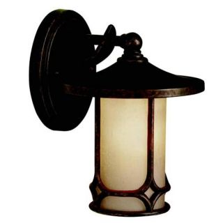 Kichler 9364AGZ Outdoor Light, Arts and Crafts/Mission Wall 1 Light Fixture Aged Bronze