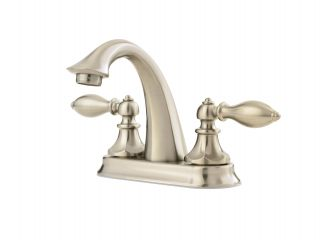 Price Pfister F 048 E0BK Catalina 4 In. 2 Handle High Arc Bathroom Faucet