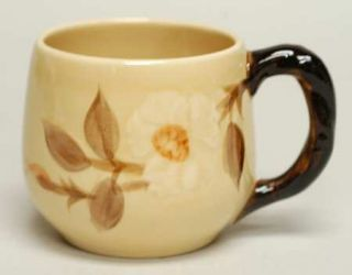 Franciscan Cafe Royal Small Mug, Fine China Dinnerware   Embossed Flowers,Brown