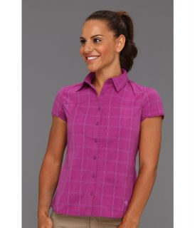 Mountain Hardwear Terralake S/S Shirt Womens Short Sleeve Button Up (Purple)
