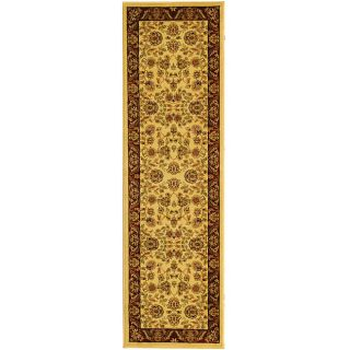 Lyndhurst Collection Tabriz Ivory/ Red Runner (23 X 14)