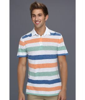 Lucky Brand Linen Stripe Polo Mens Clothing (Multi)