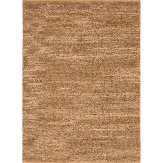 Hand woven Naturals Solid Pattern Yellow Rug (2 X 3)