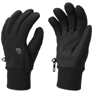 Mountain Hardwear Heavyweight Gloves   Power Stretch(R) Polartec(R) (For Men)   BLACK (S )