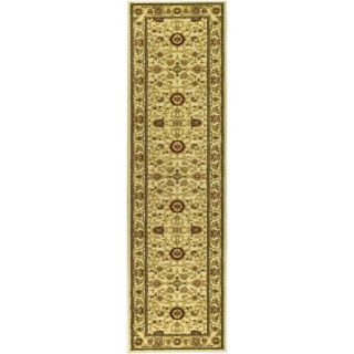 Lyndhurst Collection Majestic Ivory/ Ivory Runner (23 X 6)