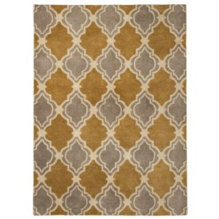 Threshold Traditional Fretwork Wool Area Rug   Sahara Gold (5x7)