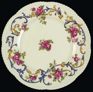 Royal Cauldon Premier Rose Dinner Plate, Fine China Dinnerware   Pink Roses,Lrg