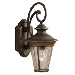 Kichler 9346OZ Outdoor Light, Classic (Formal Traditional) Wall 1 Light Fixture Olde Bronze