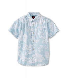 Quiksilver Kids Kaihuna S/S Button Up Boys Short Sleeve Button Up (Blue)