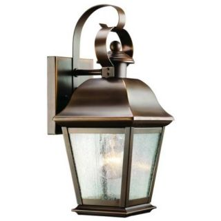 Kichler 9707OZ Outdoor Light, Classic (Formal Traditional) Wall 1 Light Fixture Olde Bronze
