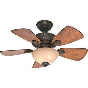 Hunter HUF 52090 Watson Small Room Ceiling Fan with light