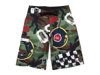 Quiksilver Kids Flying Fortress Boardshort Boys Swimwear (Gray)