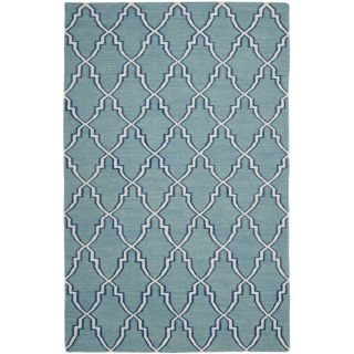 Safavieh Hand woven Moroccan Dhurrie Light Blue Wool Rug