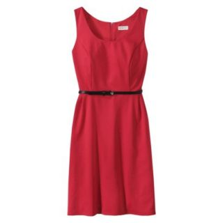 Merona Petites Sleeveless Fitted Dress   Red LP