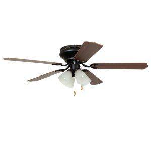 Ellington Fans ELF BRC52ORB5C Brilliante 52 Hugger Ceiling Fan w/ 4 Light Kit