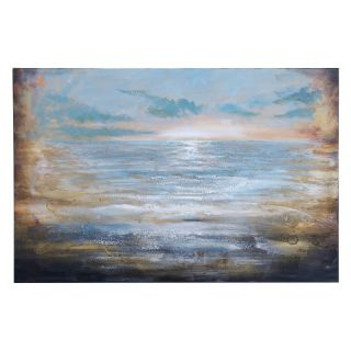 Benzara Inc Modern Seascape Wooden Canvas Wall Art   47W x 32H in. Brown   53697